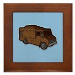 Food Truck: Basic (Brown) Framed Tile