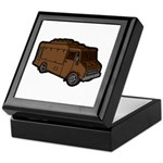 Food Truck: Basic (Brown) Keepsake Box