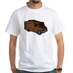Food Truck: Basic (Brown) White T-Shirt