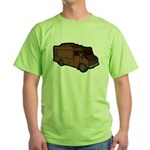 Food Truck: Basic (Brown) Green T-Shirt