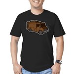 Food Truck: Basic (Brown) Men's Fitted T-Shirt (da