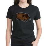 Food Truck: Basic (Brown) Women's Dark T-Shirt
