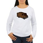 Food Truck: Basic (Brown) Women's Long Sleeve T-Sh