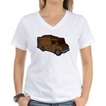 Food Truck: Basic (Brown) Women's V-Neck T-Shirt