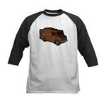 Food Truck: Basic (Brown) Kids Baseball Jersey