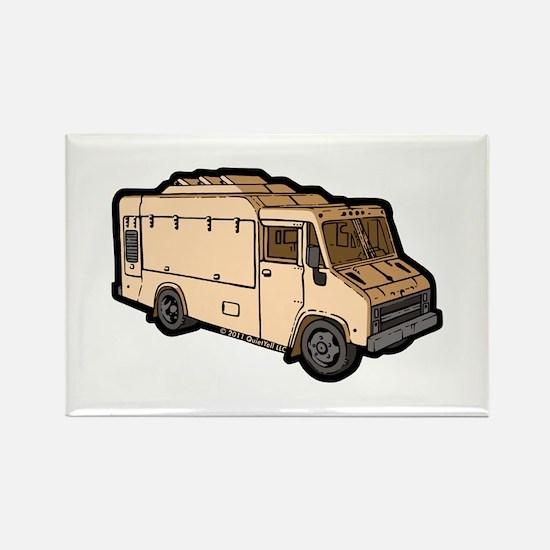 Food Truck: Basic (Cream) Rectangle Magnet (100 pa