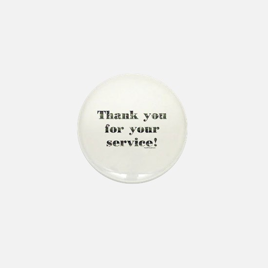 Thank You Armed Forces CAMO Mini Button
