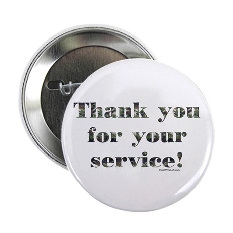 """Thank You Armed Forces CAMO 2.25"""" Button (10 pack)"""