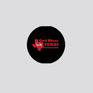 God Bless Texas & Rick Perry Mini Button