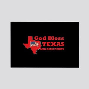 God Bless Texas & Rick Perry Rectangle Magnet
