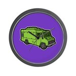 Food Truck: Basic (Green) Wall Clock