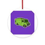 Food Truck: Basic (Green) Ornament (Round)