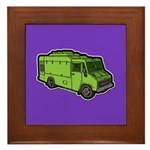 Food Truck: Basic (Green) Framed Tile
