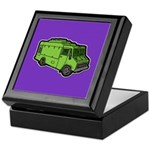 Food Truck: Basic (Green) Keepsake Box
