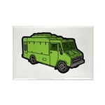 Food Truck: Basic (Green) Rectangle Magnet (10 pac