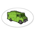 Food Truck: Basic (Green) Sticker (Oval)