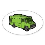 Food Truck: Basic (Green) Sticker (Oval 50 pk)