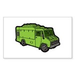 Food Truck: Basic (Green) Sticker (Rectangle 10 pk
