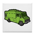 Food Truck: Basic (Green) Tile Coaster