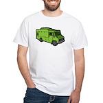 Food Truck: Basic (Green) White T-Shirt