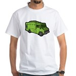 Food Truck: Basic (Green) White T-Shirt