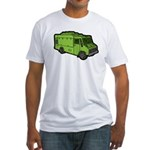 Food Truck: Basic (Green) Fitted T-Shirt