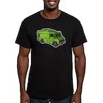 Food Truck: Basic (Green) Men's Fitted T-Shirt (da
