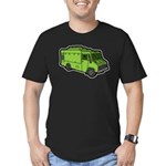 Food Truck: Basic (Green) Men's Fitted T-Shirt (da