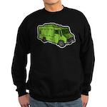 Food Truck: Basic (Green) Sweatshirt (dark)