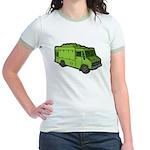 Food Truck: Basic (Green) Jr. Ringer T-Shirt