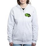 Food Truck: Basic (Green) Women's Zip Hoodie