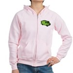 Food Truck: Basic (Green) Women's Zip Hoodie