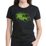 Food Truck: Basic (Green) Women's Dark T-Shirt