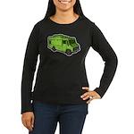 Food Truck: Basic (Green) Women's Long Sleeve Dark
