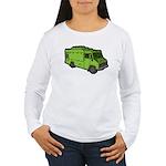 Food Truck: Basic (Green) Women's Long Sleeve T-Sh