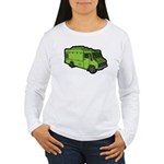 Food Truck: Basic (Green) Women's Long Sleeve T-Sh