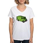 Food Truck: Basic (Green) Women's V-Neck T-Shirt