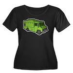 Food Truck: Basic (Green) Women's Plus Size Scoop