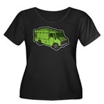 Food Truck: Basic (Green) Women's Plus Size Scoop