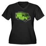 Food Truck: Basic (Green) Women's Plus Size V-Neck