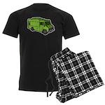 Food Truck: Basic (Green) Men's Dark Pajamas