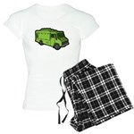 Food Truck: Basic (Green) Women's Light Pajamas
