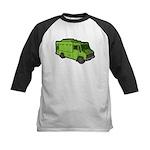 Food Truck: Basic (Green) Kids Baseball Jersey