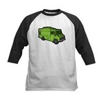 Food Truck: Basic (Green) Kids Baseball Jersey