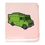 Food Truck: Basic (Green) baby blanket