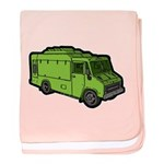 Food Truck: Basic (Green) baby blanket