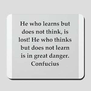confucius wisdom Mousepad