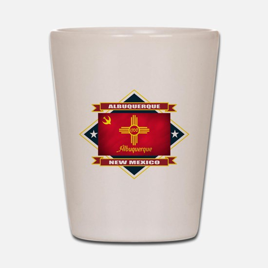 Albuquerque Flag Shot Glass