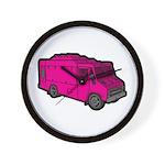 Food Truck: Basic (Pink) Wall Clock