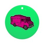 Food Truck: Basic (Pink) Ornament (Round)